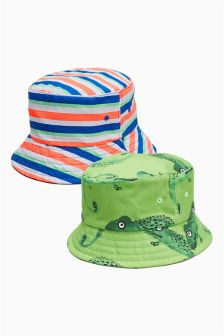 5b8e2384d17 Chameleon Stripe Fisherman s Hats Two Pack (Younger)
