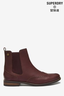 Superdry Oxblood Chelsea Boots