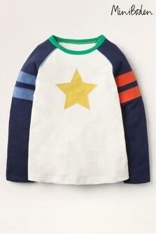Mini Boden Ivory Sporty Raglan T-Shirt