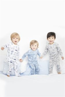 Dog Snuggle Fit Pyjamas Three Pack (9mths-8yrs)