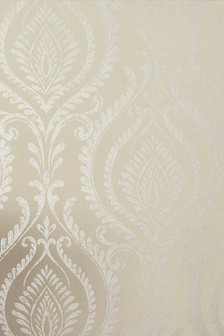 Paste The Wall Gold Damask Wallpaper Sample