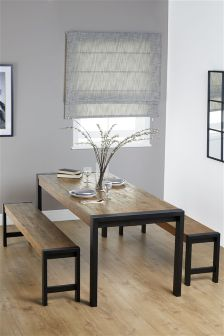 Hudson Large Dining Table And Bench Set