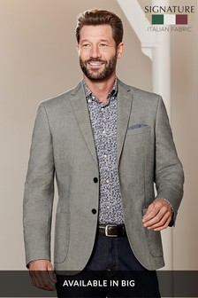 Signature Italian Cotton Tailored Fit Subalpino Blazer