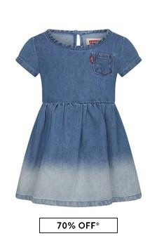 Levis Kidswear Baby Girls Blue Cotton Dress