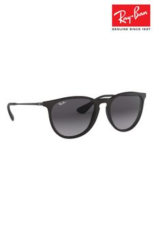 Ray-Ban® Black Matte Erika Sunglasses