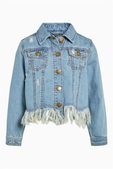 Fray Hem Denim Jacket (3-16yrs)