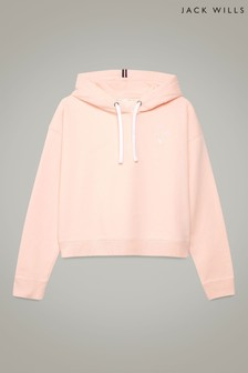 Jack Wills Blush Aderdy Crop Hoody
