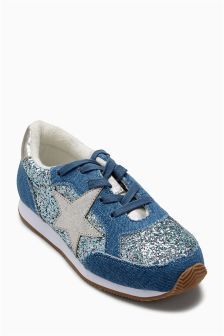 Star Glitter Trainers (Older)