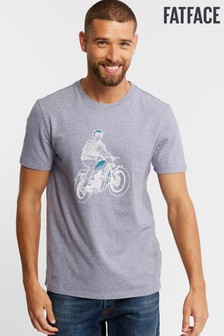 FatFace Purple Outline Motorcycle Graphic Tee