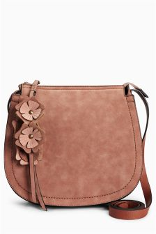 Flower Charm Saddle Bag