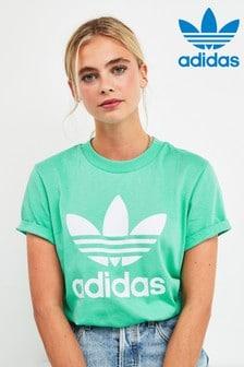 adidas Originals Boyfriend-T-Shirt, Mintgrün