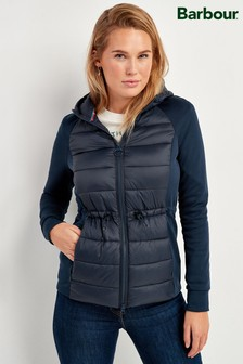 Barbour® Padded Hybrid Zip Through Jacket
