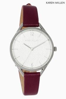 Karen Millen Leather Strap Watch