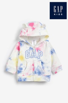 Gap Baby Tie Dye Logo Hoodie with Ears
