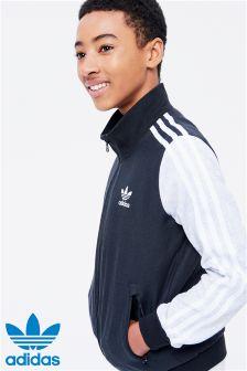 adidas Originals Grey 3 Stripe Bomber Jacket