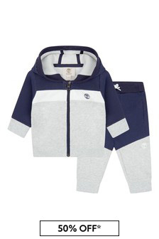 Timberland Baby Boys Navy Cotton Tracksuit