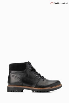 Base London® Black Fawn Burnished Lace-Up Boots