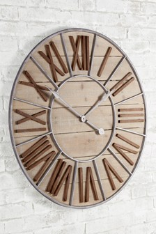 XL Salvage Wall Clock