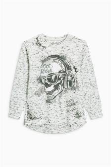 Long Sleeve Skull Top (3-16yrs)