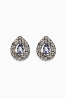 Stone Stud Earrings