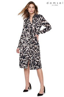 Damsel In A Dress Neutral Theodora Animal Print Shirt Dress