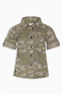 Camo Print Shirt Dress (3mths-6yrs)