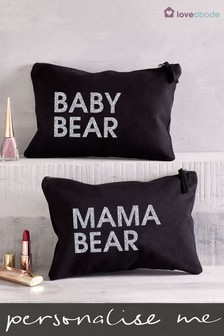 Personalised Baby Bear Cosmetic Bag by Loveabode