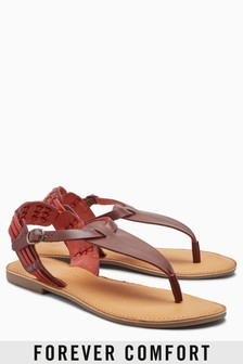 Forever Comfort Weave Toe Post Sandals