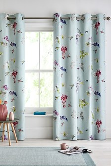 Wisteria Hummingbird Eyelet Curtains