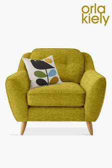 Orla Kiely Yellow Olive Laurel Chair