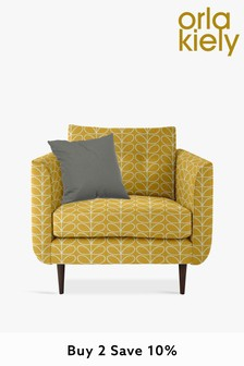 Orla Kiely Linden Chair with Walnut Feet