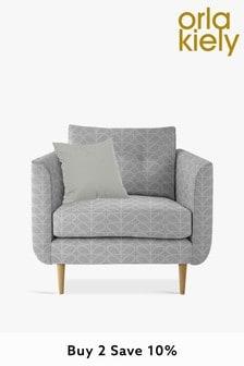 Orla Kiely Linden Chair with Oak Feet