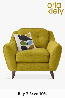 Orla Kiely Laurel Chair with Walnut Feet