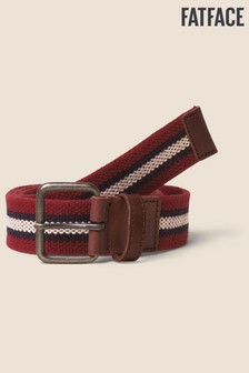 FatFace Red Stripe Webbing Belt