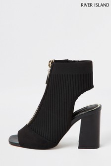 River Island Black Knitted Shoeboots