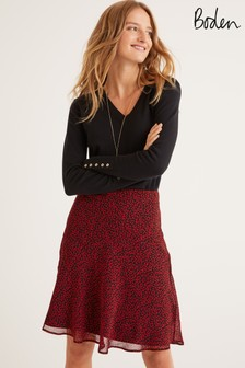 Boden Red Astolat Mini Skirt