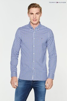 Tommy Hilfiger Blue Slim Fit Gingham Shirt