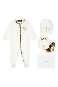 Girls Ivory Babygrow Gift Set