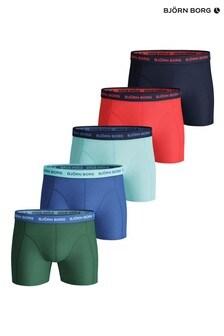 Bjorn Borg Seasonal Solid Sammy Shorts Five Pack