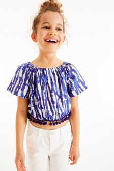 Printed Pom Pom Blouse (3-16yrs)