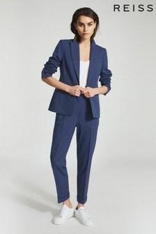 Reiss Blue Sienna Wool Blend Blazer
