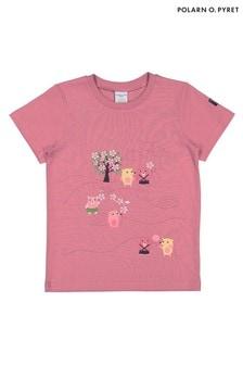 Polarn O. Pyret Pink Gots Organic Printed T-Shirt