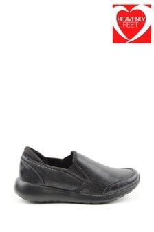 Heavenly Feet Carmel Ladies Black Leisure Shoes