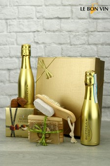 Gold Prosecco With Champagne Truffles Spa Treat Gift Set by Le Bon Vin