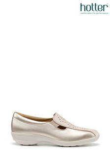 Hotter Gold Calypso Slip-On Pump Shoes