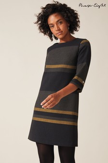 Phase Eight Blue Sophie Stripe Dress