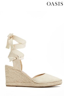 Oasis Natural Espadrille Wedges