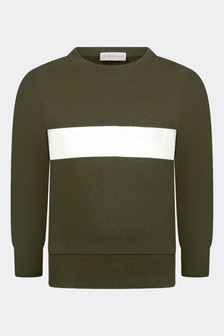 Moncler Enfant Boys Green Cotton Sweater
