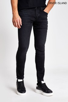 River Island Black Skinny Washed Denim Jeans