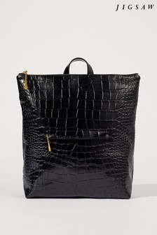 Jigsaw Black Stevie Leather Backpack